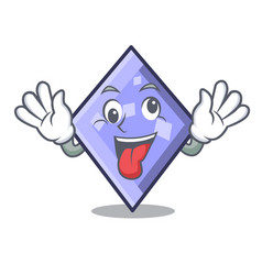 Crazy rhombus mascot cartoon style vector