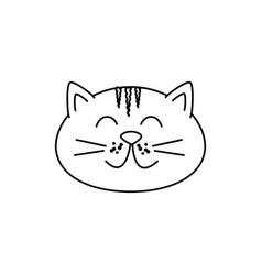 Cute cat mascot icon vector