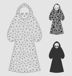 Death hood man mesh carcass model and vector