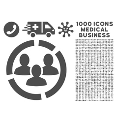 Demography Diagram Icon with 1000 Medical Business vector image
