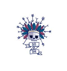 Do or die skull sticker vector