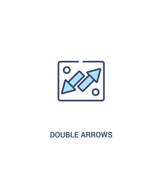 Double arrows concept 2 colored icon simple line vector