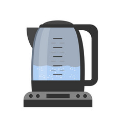 electric teapot with glass case and electronic vector image