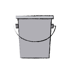 Empty bucket icon simple container element vector