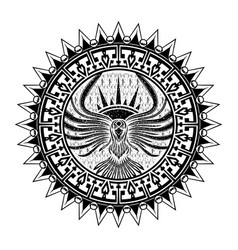 ethnic tattoo 0007 vector image