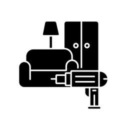 furniture installation black glyph icon vector image