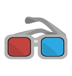 Glasses 3d movie cinema design vector