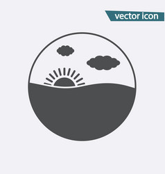 gray sunset icon isolated on background modern fl vector image