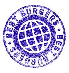 Grunge textured best burgers stamp seal vector