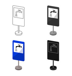 Guide road sign icon in cartoon style isolated on vector