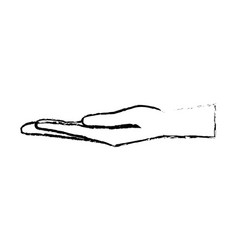 Hand man cartoon receiving gesture image vector