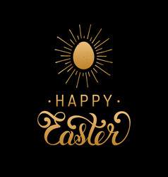 Happy easter type greeting card with egg vector