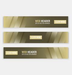 Horizontal website header or banner vector