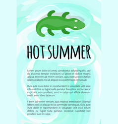 hot summer alligator inflatable crocodile toy vector image