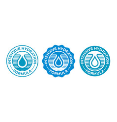 hydration icon moisturizing water drop logo for vector image