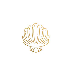 icon elegant seashell hand drawn with vector image