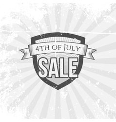 Independence Day 4th of July Sale festive Shield vector image