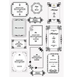 Invitation Templates vector image