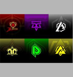 Latter logo for gaming team vector
