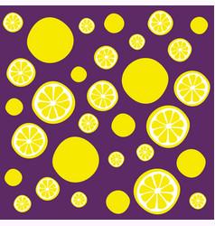 lemon slices pattern vector image