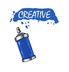 Logo sprays with blue paint vector