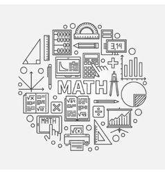 Math round line vector