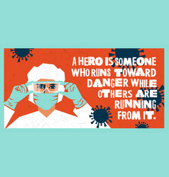 Medical worker wearing ppe hospital staff heroes vector
