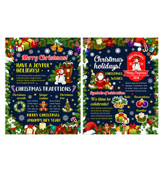 merry christmas winter holidays greeting poster vector image
