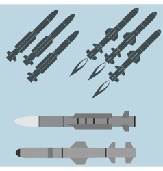 Missile military rocket weapons vector