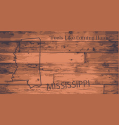 Mississippi map brand vector