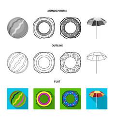 Multicolored swimming circle flatoutline vector