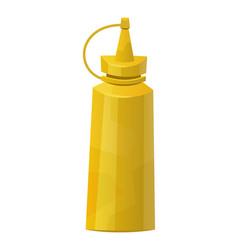 Mustard bottle isolated on white background vector