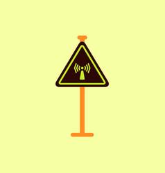 network badge road sign wifi traffic symbol vector image