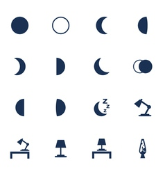 Night icons vector
