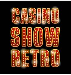 Notice spectacular casino icon vector