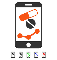 Pharmacy online report flat icon vector