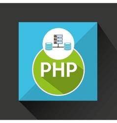 php language data base storage vector image