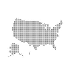 pixel map of usa dotted map of usa isolated on vector image