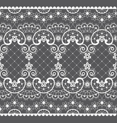 romantic lace seamless pattern retro design vector image
