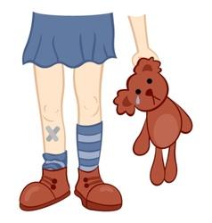 Sad childhood vector image