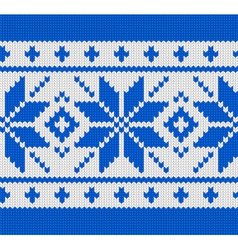 scandinavian knitted pattern vector image