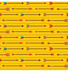 seamless pattern with indian arrows vector image