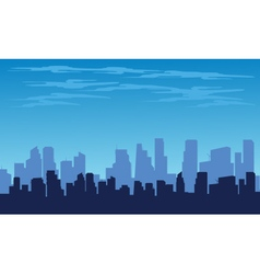 Silhouette of the city from the top vector