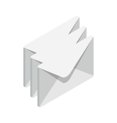 Stack of envelopes icon isometric 3d style vector image
