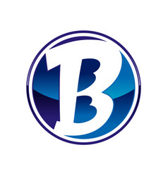 triple b initials lettermark circle symbol design vector image