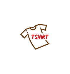 tshirt simple tee logo vector image
