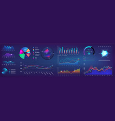 ui elements infographic dashboard template vector image