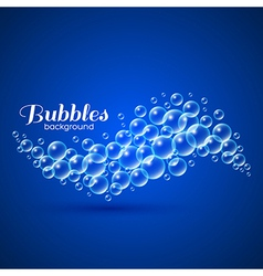 Wave of Air Bubbles vector image