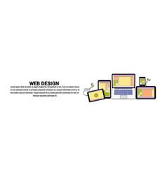 web design development concept horizontal banner vector image