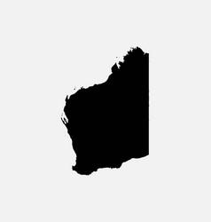 Western australia map black silhouette vector